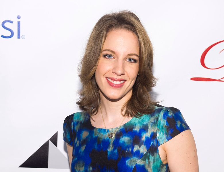 """FILE – This May 16, 2014 file photo shows actress Jessie Mueller at the Drama League Awards in New York. Mueller is following up her Tony-winning role singing Carole King songs with the lead in """"Waitress,"""" which features tunes by Sara Bareilles. The new musical tells the story of a waitress and pie maker trapped in a small-town diner and a loveless marriage. It's adapted from a 2007 film starring Keri Russell. (Photo by Charles Sykes/Invision/AP, File)"""