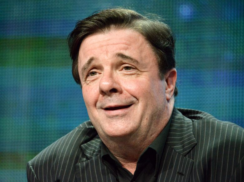 """FILE – In this July 22, 2014, file photo, actor Nathan Lane speaks on stage during the """"Live from Lincoln Center"""" – """"The Nance"""" panel at the the PBS 2014 Summer TCA in Beverly Hills, Calif. Big celebrities including Whoopi Goldberg and Brian Dennehy have agreed to perform for one-time-only a thoughtful, 70-minute monologue. But there's a catch: They get no script ahead of time. The play, """"White Rabbit Red Rabbit,"""" by Iranian playwright Nassim Soleimanpour, makes its New York premiere Monday, March 7, 2016, at the Westside Theatre, and Lane will be the first to perform. (Photo by Richard Shotwell/Invision/AP, File)"""