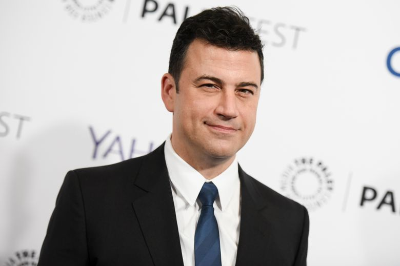"""FILE – In this March 8, 2015, file photo, Jimmy Kimmel arrives at the 32nd Annual Paleyfest : """"Scandal"""" held at The Dolby Theatre in Los Angeles. Kimmel will host this year's Emmy Awards broadcast. ABC announced Monday, March 7, 2016, that Kimmel, host of that network's late-night  """"Jimmy Kimmel Live,"""" will return for the 68th Primetime Emmy Awards, which airs Sept. 18. (Photo by Richard Shotwell/Invision/AP, File)"""