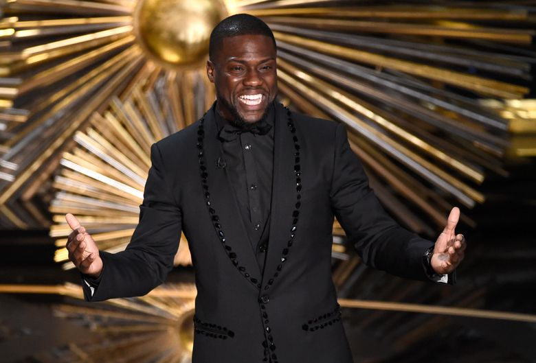 """FILE- In this Feb. 28, 2016, file photo, Kevin Hart speaks at the Oscars at the Dolby Theatre in Los Angeles. Atria Publishing Group announced Tuesday, March 22, 2016, that Hart will release a memoir, """"From the Hart,"""" about his early life and failures that gave him the motivation to become one a Hollywood star. (Photo by Chris Pizzello/Invision/AP, File)"""