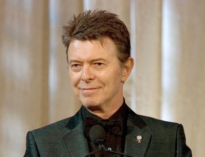 FILE – In this June 5, 2007 file photo, David Bowie attends an awards show in New York.  Artists are honoring David Bowie Thursday, March 31, 2016, at a tribute concert at Carnegie Hall in New York. Bowie died on January 10 at age 69. (AP Photo/Stephen Chernin, File)