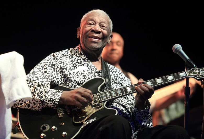 FILE – In this Aug. 8, 2013, file photo, Blues music legend B.B. King performs on Frampton's Guitar Circus 2013 Tour at Pier Six Pavilion, in Baltimore. The Robert Cray Band with guest guitarists Sonny Landreth and Roy Gaines will offer a special tribute to the late blues legend at the 2016 Playboy Jazz Festival. The Los Angeles Philharmonic announced the lineup Tuesday, March 1, 2016, for the 38th annual Playboy festival, scheduled for the weekend of June 11-12 at the Hollywood Bowl. (Photo by Owen Sweeney/Invision/AP, File)