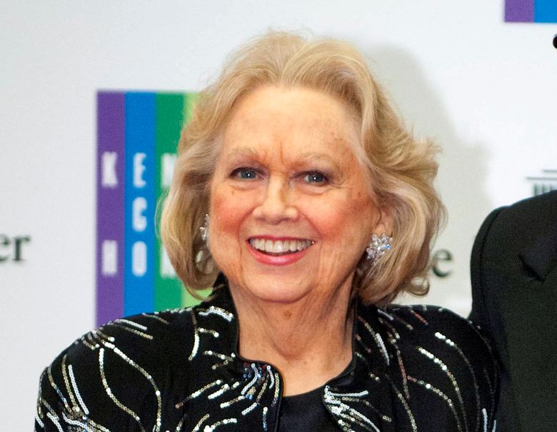 """FILE – In this Dec. 7, 2013 file photo, Barbara Cook arrives at the State Department for the Kennedy Center Honors gala dinner in Washington. Cook's return to a New York stage in a show about her life has been postponed. Producers said Monday, March 28, 2016, that """"Barbara Cook: Then and Now,"""" conceived by James Lapine and directed by Tommy Tune, will not be staged this spring at the New World Stages complex. (AP Photo/Kevin Wolf, File)"""