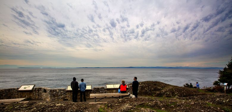 Lime Kiln State Park, on San Juan Island, offers dramatic views. All Washington state parks are free on March 19.  (Mike Siegel/The Seattle Times)
