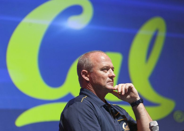 In this July 24, 2012 file photo, California head coach Jeff Tedford takes questions at the Pac-12 college football media day in Los Angeles. (Damian Dovarganes / AP)