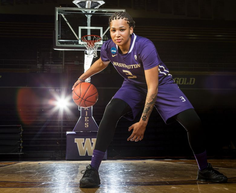 Senior Talia Walton will figure prominently into Washington's quest for a national championship. Washington's women will play in their first-ever Final Four this weekend. (Dean Rutz/The Seattle Times)