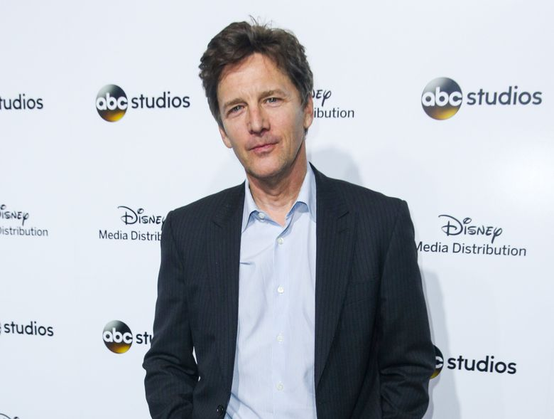 """FILE – In this May 17, 2015 file photo, Andrew McCarthy arrives at the at Disney Media Distribution International Upfronts in Burbank, Calif. McCarthy stars in """"The Family,"""" airing Sundays at 9 p.m. ET on ABC. (Photo by Rich Fury/Invision/AP, File)"""