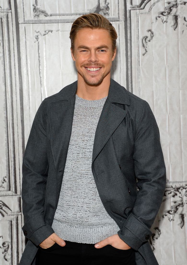 """FILE – In this Feb. 17, 2016 file photo, actor and dancer Derek Hough participates in AOL's BUILD Speaker Series to discuss, """"The Wonderful World of Disney: Disneyland 60"""",  in New York. Hough and Martin Short will join the cast of NBC's """"Hairspray Live!"""" on Dec. 7. The duo will join Jennifer Hudson and Harvey Fierstein in the TV musical based on the cult John Waters movie. (Photo by Evan Agostini/Invision/AP, File)"""