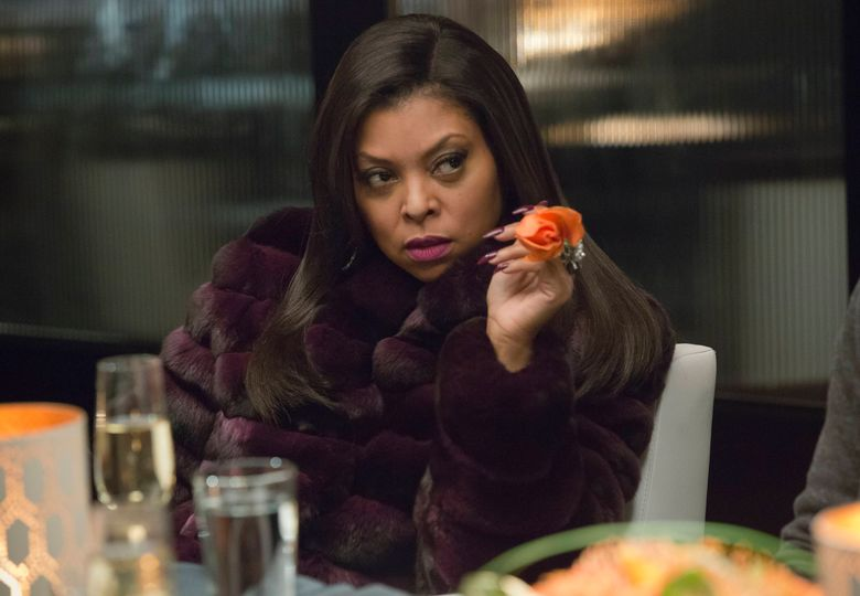"""In this image released by Fox, Taraji P. Henson as Cookie Lyon appears in a scene from """"Empire."""" Fans of """"Empire"""" will be able to binge-watch each episode of the drama's current season prior to the season finale on May 18 as part of an unusual syndication deal between Fox and the TV One network announced on Thursday, April 14, 2016. (Chuck Hodes/FOX via AP)"""