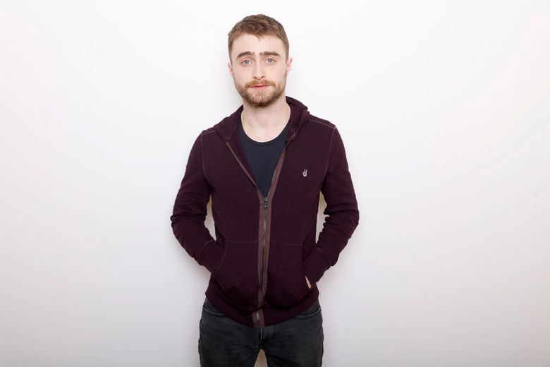 """FILE – In this Jan. 23, 2016 file photo, actor Daniel Radcliffe poses for a portrait to promote the series, """"Swiss Army Man"""" during the Sundance Film Festival in Park City, Utah. Radcliffe will return to a New York stage in James Graham's play """"Privacy,"""" inspired by the revelations by former National Security Agency contractor Edward Snowden.  It runs from July 5-Aug. 7. (Photo by Matt Sayles/Invision/AP, File)"""