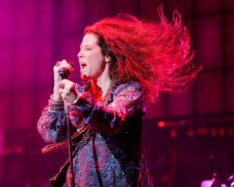 "Kacee Clanton in ""A Night with Janis Joplin"" at 5th Avenue Theatre. (Mark Kitaoka)"