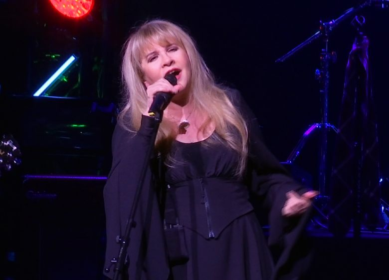 """Stevie Nicks, pictured here during a surprise performance after the curtain call for the musical  """"School of Rock,"""" in April,  2016, is coming to KeyArena Sunday, Dec. 11. (AP Photo/Bruce Barton)"""