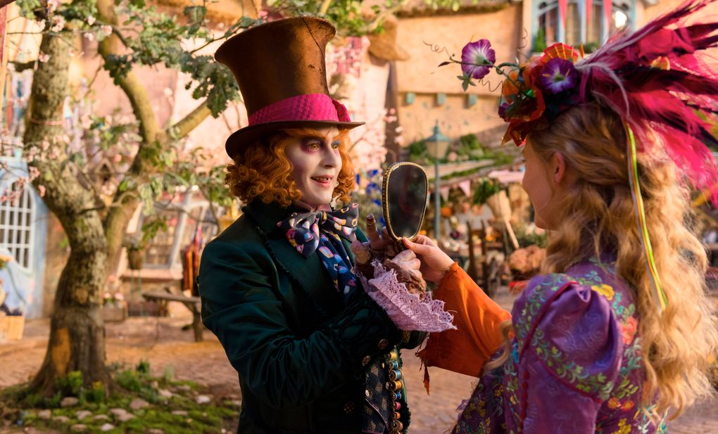 """Mia Wasikowska and Johnny Depp star in """"Alice Through the Looking Glass."""" (Peter Mountain)"""