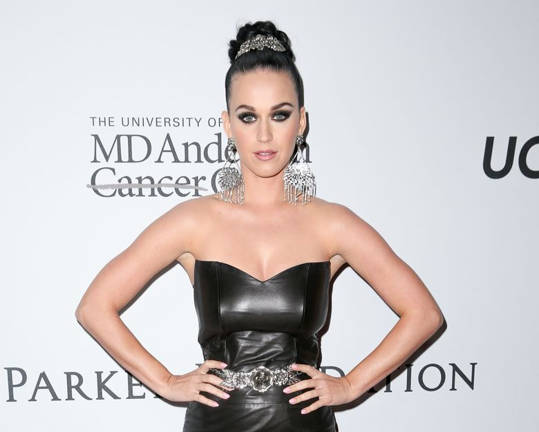 """FILE – In this April 13, 2016 file photo, Katy Perry arrives at Sean Parker and the Parker Foundation's Gala Celebrating a Milestone in Medical Research in Los Angeles. Perry will perform at amfAR's annual """"Cinema Against AIDS"""" event, the glitzy A-list fundraiser held annually during the Cannes Film Festival. The May 19th event raises money to for AIDS research. (Photo by Rich Fury/Invision/AP, File)"""