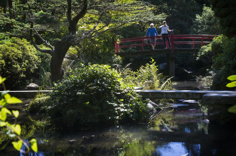 Kubota Gardens, at 9817 55th Ave. S. in Seattle, is one of the places you can visit if you take one of Atlas Obscura's tours April 16. (Ellen M. Banner/The Seattle Times)