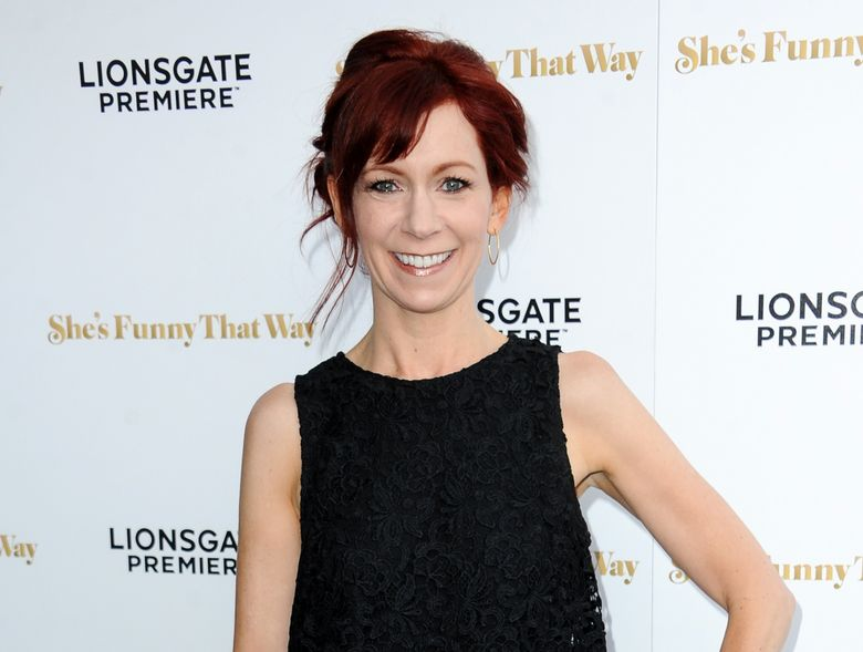 """FILE – In this Aug. 19, 2015 file photo, actress Carrie Preston arrives at the LA Premiere of """"She's Funny That Way"""" in Los Angeles. Preston stars in the comedy, """"Crowded,"""" airing Sundays on NBC. (Photo by Richard Shotwell/Invision/AP, File)"""