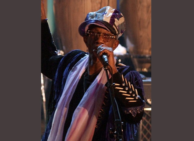 FILE – In this March 18, 2002, file photo, Bernie Worrell speaks at the Rock and Roll Hall of Fame in New York. An all-star benefit is planned for funk pioneer Worrell on Monday, April 4, 2016, in New York to raise money for his cancer treatment. The keyboardist for George Clinton's Parliament-Funkadelic was diagnosed with Stage Four lung cancer. (AP Photo/Kathy Willens, File)
