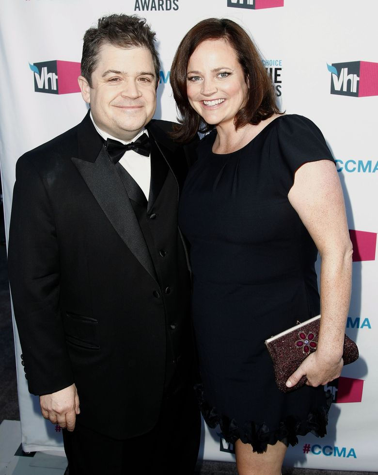 FILE – In this Jan. 12, 2012 file photo, Patton Oswalt, left, and his wife Michelle Eileen McNamara arrive at the 17th Annual Critics' Choice Movie Awards in Los Angeles. Oswalt has authored a touching essay for Time that was published on May 3, 2016, nearly two weeks after McNamara's unexpected death. (AP Photo/Matt Sayles, File)