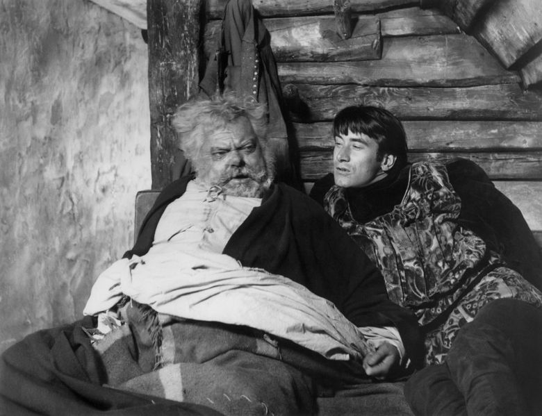 """Orson Welles, left, as Falstaff in """"Chimes at Midnight."""" (Photo courtesy of SIFF)"""