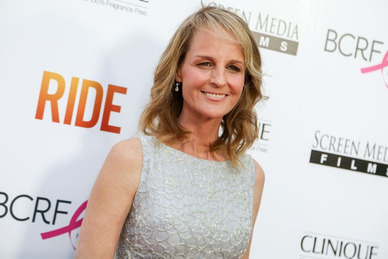 """FILE – In this Tuesday, April 28, 2015 file photo, Helen Hunt arrives at the LA Premiere of """"Ride"""" at The Arclight Hollywood Theater in Los Angeles. In a Twitter post on May 23, 2016, Hunt wrote that she was mistaken for fellow actress Jodie Foster at a Starbucks. (Photo by Rich Fury/Invision/AP, File)"""