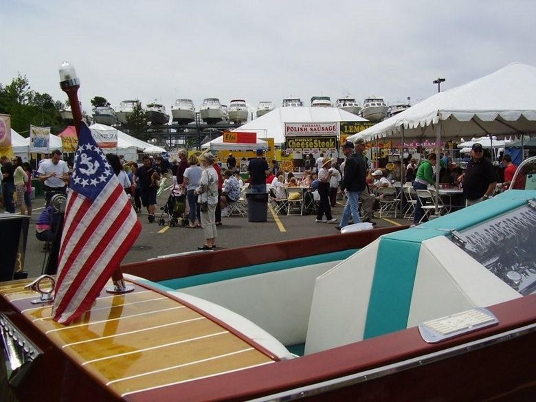 A classic boat is on display during the 2006 Edmonds Waterfront Festival. This year's fest is June 3-5. (Rotary Club of Edmonds)