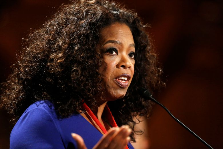 """FILE – In this Tuesday, Sept. 30, 2014, file photo, Oprah Winfrey addresses an audience after accepting the W.E.B. Du Bois medal during ceremonies, on the campus of Harvard University, in Cambridge, Mass. Winfrey unveiled the first episode of her new series """"Greenleaf"""" Wednesday, May 25, 2016 at a private screening at Soho House in West Hollywood, Calif. The show, which follows the personal dramas and questionable ethics of a family at the center of a Memphis mega-church, is set to premiere next month on Winfrey's namesake network. (AP Photo/Steven Senne, File)"""