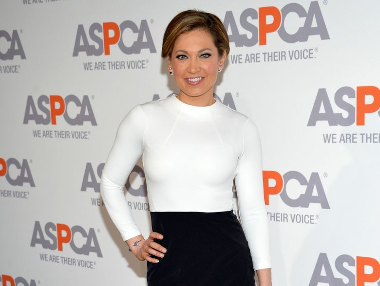 """FILE – In this April 9, 2015 file photo, meteorologist Ginger Zee attends the 18th Annual ASPCA Bergh Ball in New York. ABC News reports Zee plans to take part in the two-night season finale of '""""Dancing with the Stars"""" that begins on Monday, May 23, 2016, despite suffering a pelvic injury. (Photo by Evan Agostini/Invision/AP, File)"""
