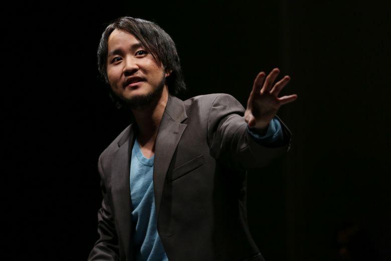 "Kevin Lin in ""Caught"" at Seattle Public Theater. (John Ulman)"