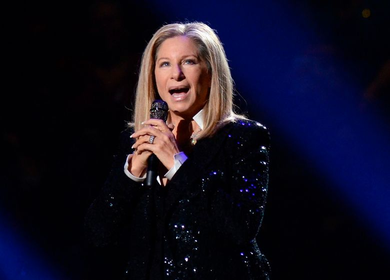 """FILE – In this Oct. 11, 2012, file photo, singer Barbra Streisand performs at the Barclays Center in the Brooklyn borough of New York. Streisand will take the stage at the Tony Awards on June 12, 2016. The singer and actress, who was a Tony nominee in 1962 for """"I Can Get It for You Wholesale"""" and in 1964 for """"Funny Girl,"""" hasn't graced Tony night since 1970, when she got a special Tony. (Photo by Evan Agostini/Invision/AP, File)"""