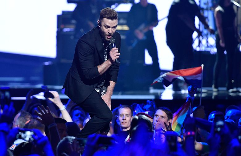 """FILE – In this May 14, 2016, file photo, U.S. singer Justin Timberlake performs  during the Eurovision Song Contest final in Stockholm, Sweden. If Spotify's predictions are correct, Timberlake's """"Can't Stop the Feeling"""" will be a summer song you can't stop singing. The streaming music service revealed Thursday, June 2, 2016, its picks for the songs likely to be unavoidable this season (AP Photo/Martin Meissner, File)"""