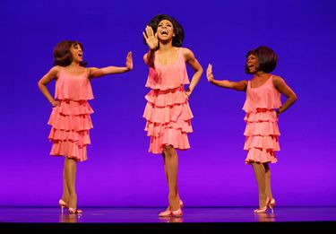 """Krisha Marcano, left, Allison Semmes and Trisha Jeffrey are part of the touring cast of """"Motown: the Musical."""""""