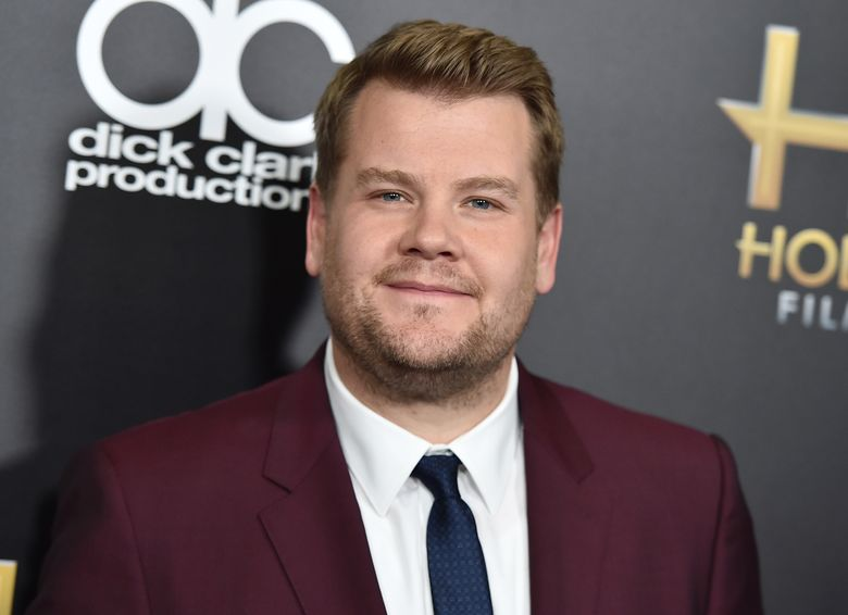 """FILE – In this Nov. 1, 2015, file photo, James Corden arrives at the Hollywood Film Awards in Beverly Hills, Calif. Corden told Howard Stern in a June 6, 2016, interview that he has no interest in taking over for """"Late Show"""" host Stephen Colbert. (Photo by Jordan Strauss/Invision/AP, File)"""