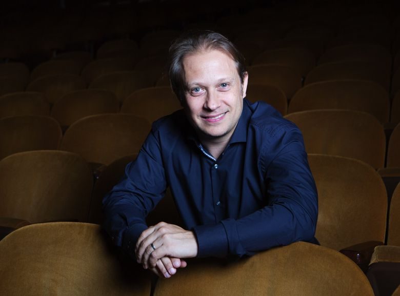 Ludovic Morlot, Seattle Symphony's music director and conductor, says standard symphonic concert fare is far removed from what it used to be — several new pieces, then a recognized favorite. (Lindsey Wasson/The Seattle Times)