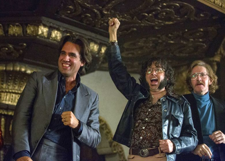 """In this image released by HBO, Bobby Cannavale, from left, P.J. Byrne, and J.C. MacKenzie appear in a scene from """"Vinyl."""" HBO said Wednesday, June 22, 2016, it won't bring """"Vinyl"""" back for a second season, reversing its previously announced renewal. (Patrick Harbron/HBO via AP)"""