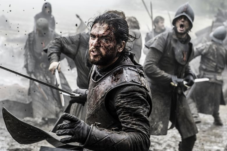 """In this image released by HBO, Kit Harington portrays Jon Snow in a scene from """"Game of Thrones."""" Fans will have the chance to immerse themselves in their favorite show in Nashville next summer. The show's fan site Watchers on the Wall said Tuesday, June 21, it will host a three-day convention there from June 30 to July 2, 2017. (Helen Sloan/HBO via AP)"""