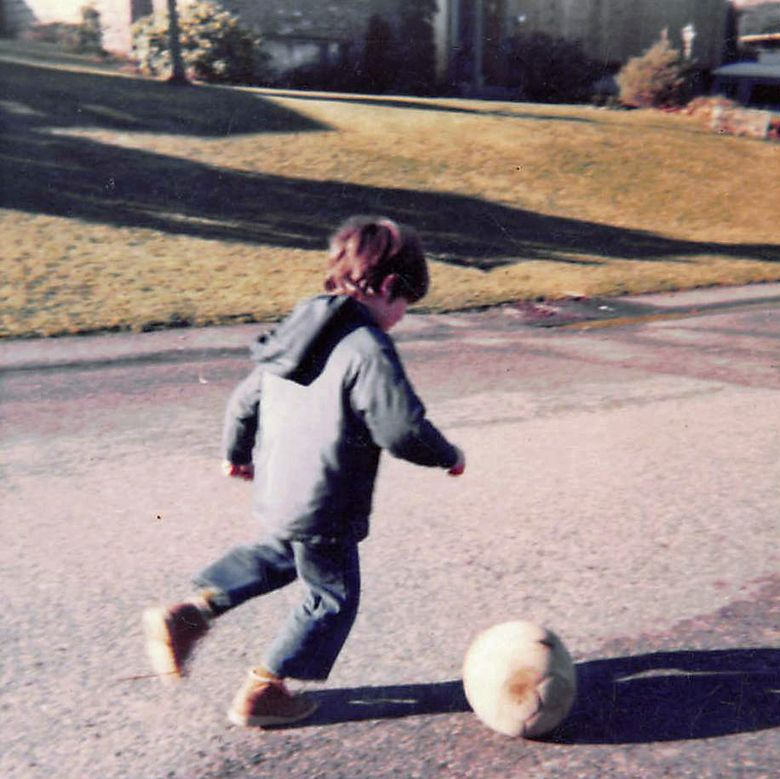 Adrian Hanauer's career in soccer began early, with his mother as his first fan. (Photo courtesy of Adrian Hanauer)