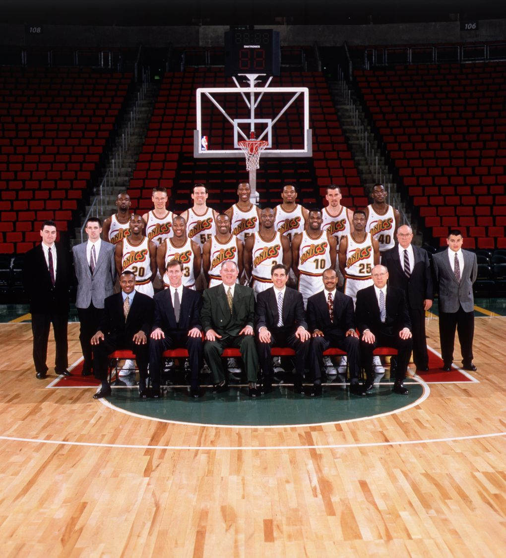 The 1995-96 Sonics finished the regular season with a 64-18 record.