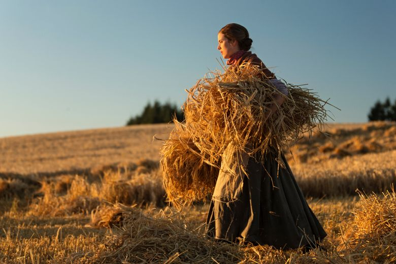 """A woman (Agyness Deyn) experiences a string of hardships in """"Sunset Song,"""" set in WWI-era Scotland. (Dean MacKenzie)"""