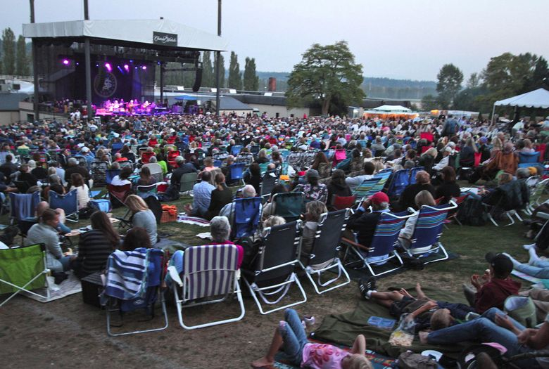 The crowd for Crosby, Stills & Nash at Chateau Ste. Michelle in 2012.  (Greg Gilbert/The Seattle Times)