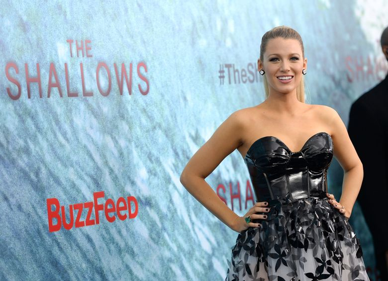 """Actress Blake Lively attends the world premiere of """"The Shallows"""" at AMC Loews Lincoln Square on Tuesday, June 21, 2016, in New York. (Photo by Evan Agostini/Invision/AP)"""