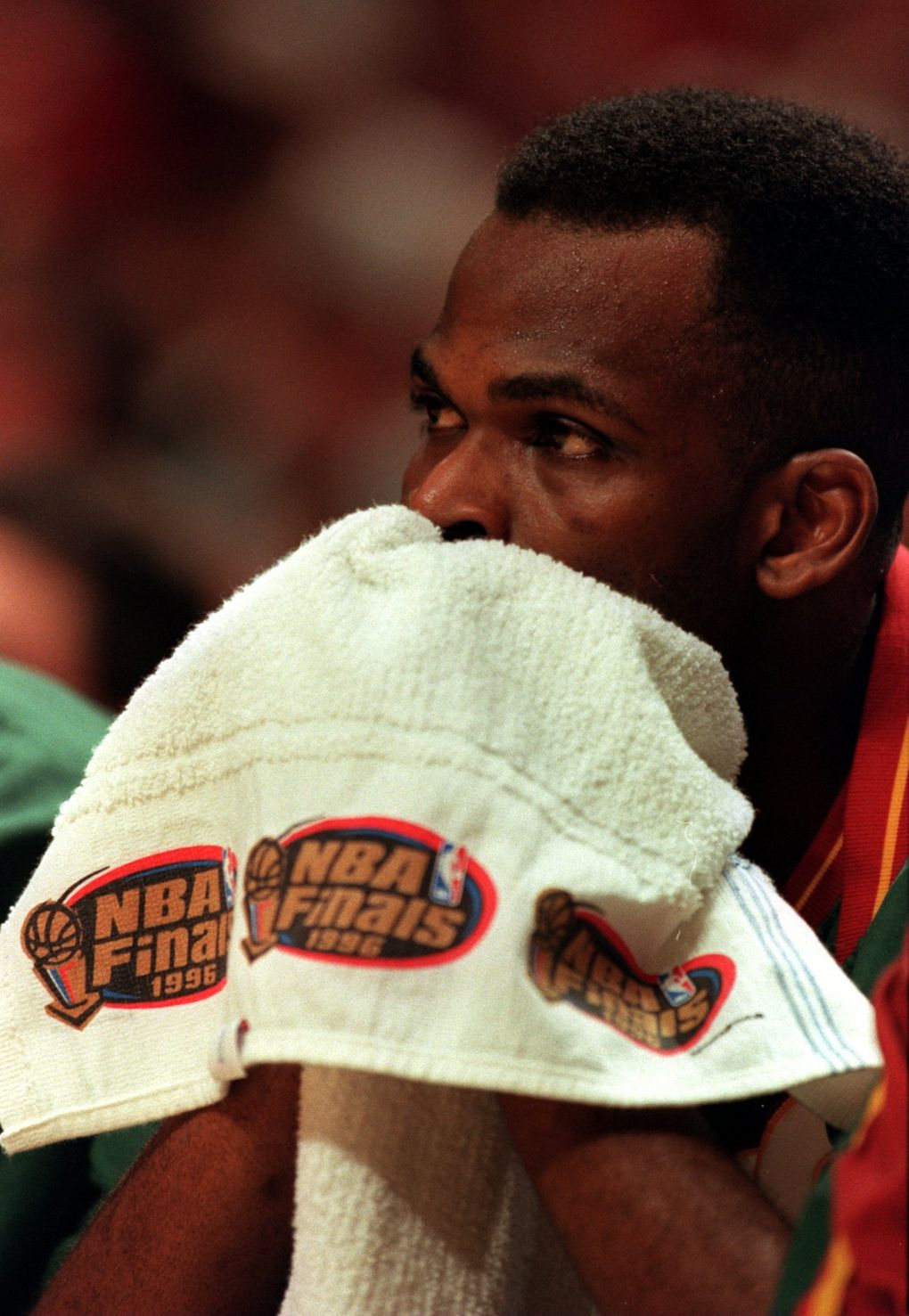 Nate McMillan was sidelined during the 1996 NBA Finals because of a back injury. (Seattle Times file)