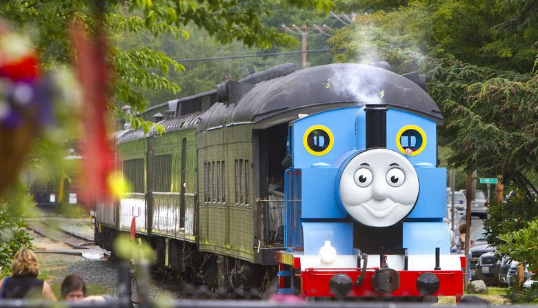 """Take a ride with Thomas the Tank Engine at the Northwest Railway Museum in Snoqualmie. For more information see the listing under """"Museum Events.""""  (Mike Siegel/The Seattle Times)"""