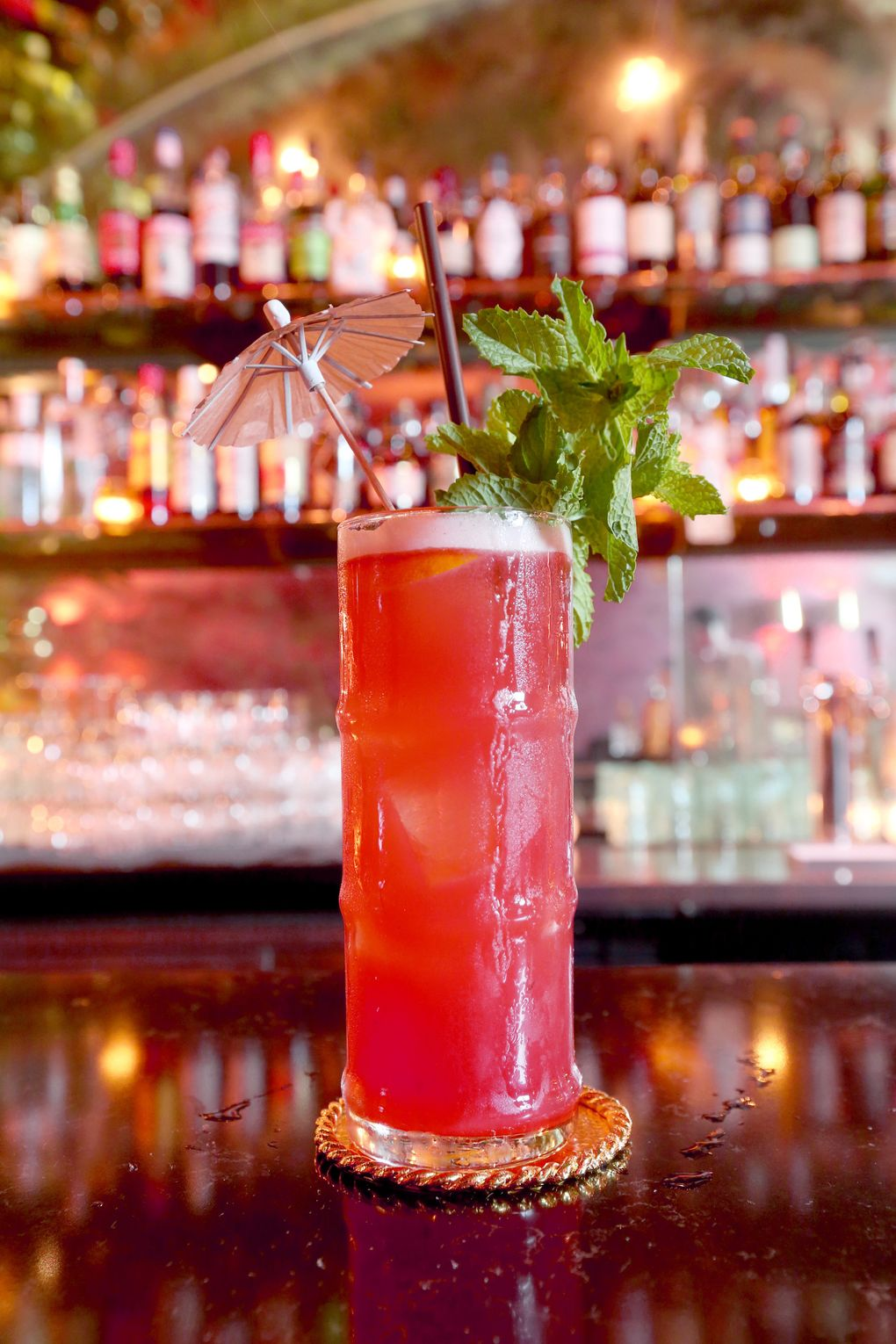 Foreign National's Singapore Sling has a bracing cognac bite,  (Greg Gilbert/The Seattle Times)