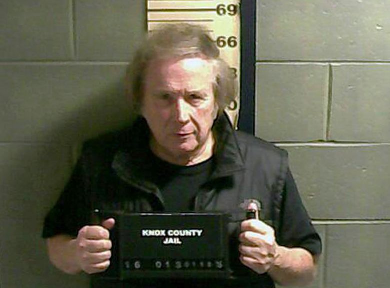 """FILE – This Monday, Jan. 18, 2016 file booking photo provided by the Knox County Jail shows Don McLean. """"American Pie"""" singer McLean admitted to domestic violence assault against his estranged wife, and will avoid jail time. The singer-songwriter pleaded guilty in court Thursday, July 21, to the charge and related counts. (Knox County Jail via AP, File)"""