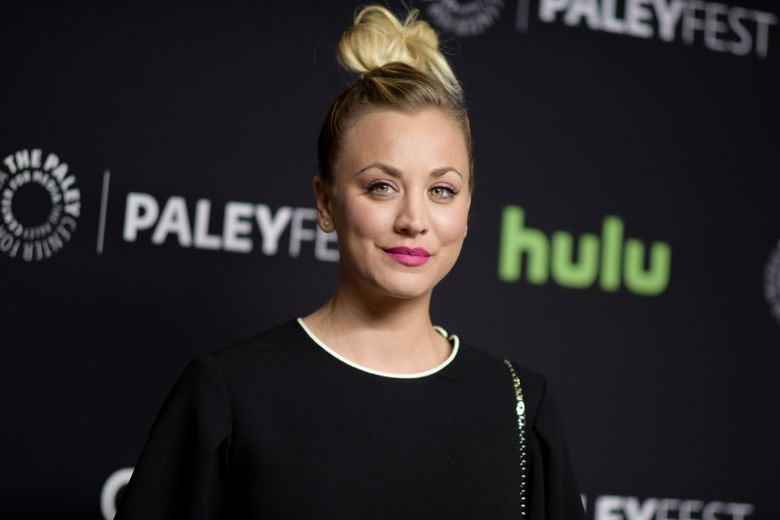 """FILE – In this March 16, 2016, file photo, Kaley Cuoco attends the 33rd Annual Paleyfest: """"The Big Bang Theory"""" held at the Dolby Theatre in Los Angeles. Cuoco has apologized for posting a photo on July 4, 2016, of her dogs sitting on an American flag. (Photo by Richard Shotwell/Invision/AP, File)"""