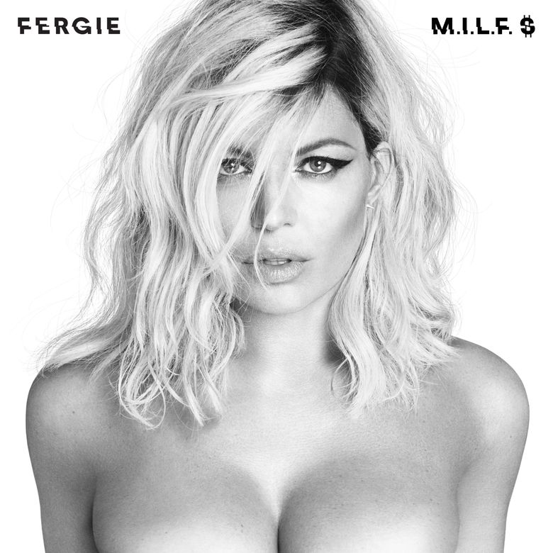 """This image released by Interscope Records shows the cover image for Fergie's latest single, """"M.I.L.F. $."""" The song and video co-starring Kim Kardashian, Chrissy Teigen and Ciara, debuted Friday, July 1, 2016 and quickly became a trending topic on social media. (Interscope Records via AP)"""