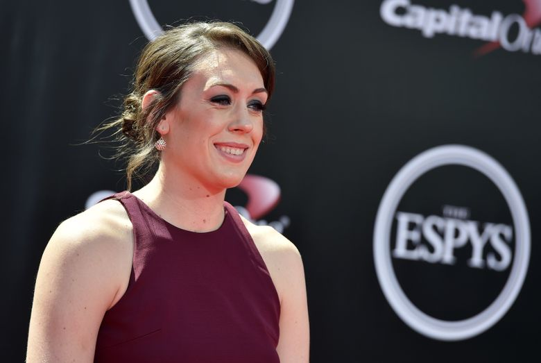 WNBA player Breanna Stewart arrives at the ESPY Awards at the Microsoft Theater on Wednesday, July 13, 2016, in Los Angeles. (Photo by Jordan Strauss/Invision/AP) (Jordan Strauss/Jordan Strauss/Invision/AP)