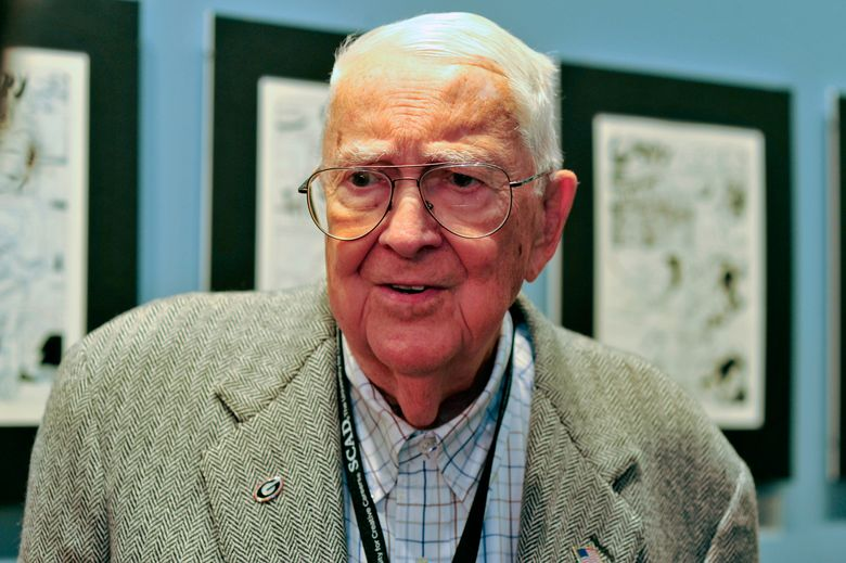 FILE – In this Oct. 11, 2011 file photo, cartoonist Jack Davis attends an event honoring him by the Savannah College of Art and Design and the National Cartoonists Society in Savannah, Ga. Davis, the prolific Mad magazine illustrator, cartoonist and movie poster artist, died Wednesday, July 27, 2016, according to the University of Georgia, his alma mater. He was 91. (AP Photo/Stephen Morton, File)