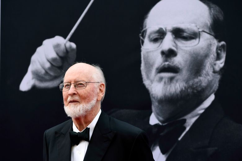 """FILE – In this June 9, 2016, file photo, composer John Williams poses on the red carpet at the 2016 AFI Life Achievement Award Gala Tribute to John Williams at the Dolby Theatre in Los Angeles. In a YouTube video posted July 16, 2016, Williams greets two fans who played the theme from """"Star Wars"""" on the sidewalk in front of his Los Angeles home. (Photo by Chris Pizzello/Invision/AP, File)"""