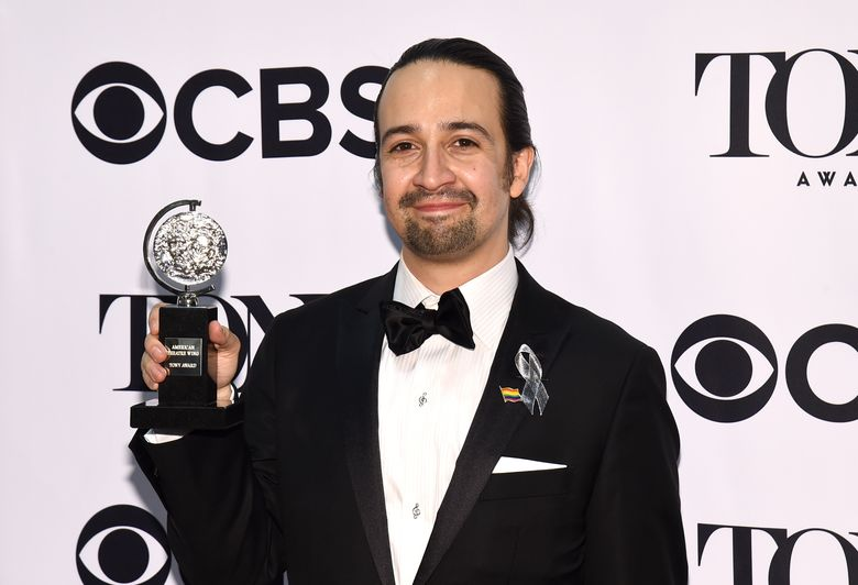 """CORRECTS DATE MIRANDA LEAVES HAMILTON TO JULY 9 FROM JULY 2 – FILE – In this June 12, 2016, file photo, Lin-Manuel Miranda poses in the press room with the award for best musical at the Tony Awards, in New York. For Broadway fans, no date this year will be as important as Saturday, July 9, 2016. That's the day Lin-Manuel Miranda, creator and star of """"Hamilton,"""" leaves his best-selling show. That date also marks the last shows of Leslie Odom Jr., who plays Aaron Burr, and Phillipa Soo, who portrays Eliza Schuyler, but Miranda's departure is the hardest. (Photo by Charles Sykes/Invision/AP, File)"""